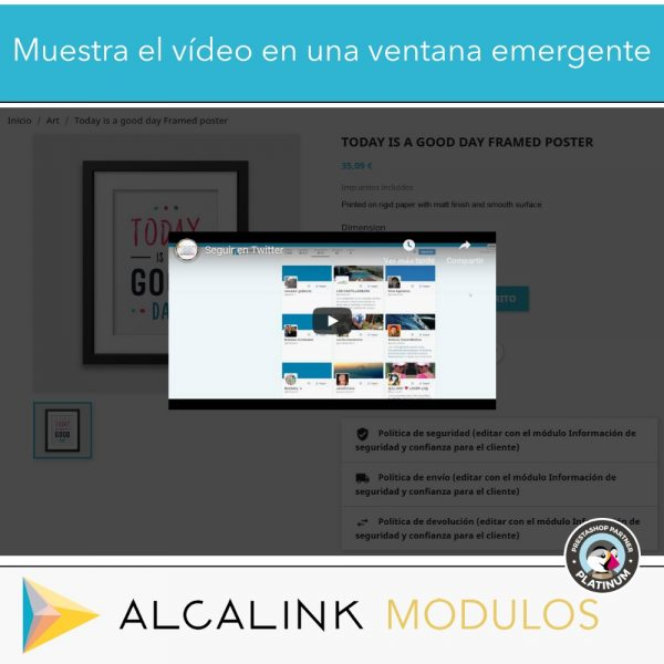 módulo prestashop vídeo
