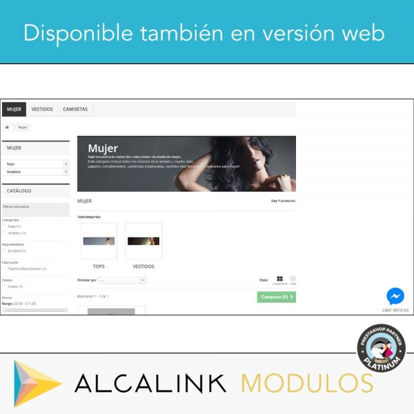 modulo pulsante chat facebook messenger