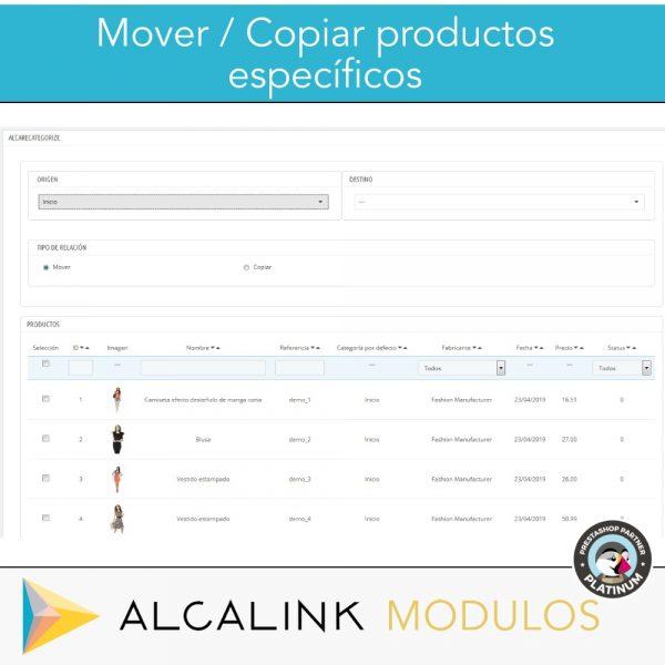 módulo para mover productos